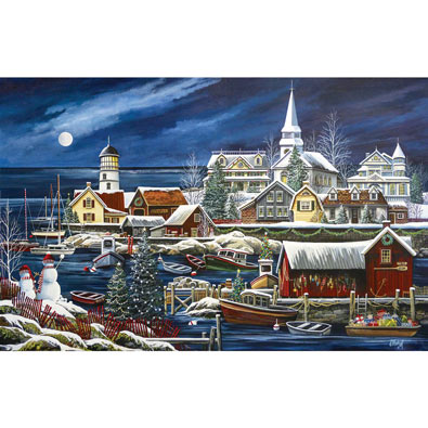 Winter Harbor 1000 Piece Jigsaw Puzzle