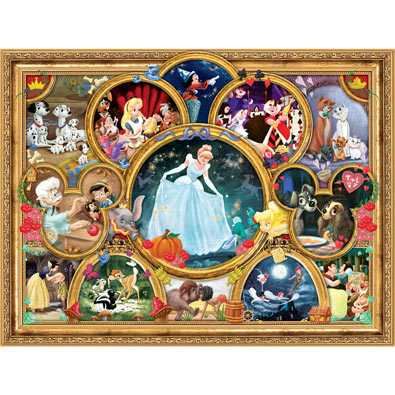 Disney Classics Collage 1500 Piece Giant Jigsaw Puzzle