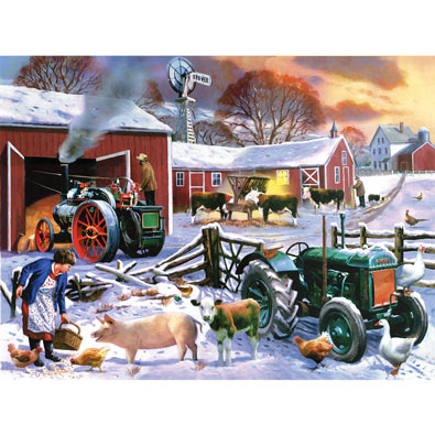 Wintertime Farm 1000 Piece Jigsaw Puzzle