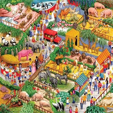 A Crazy Zoo 1000 Piece Jigsaw Puzzle