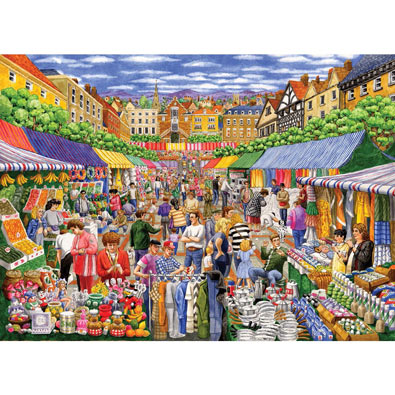 A Day at the Marketplace 1000 Piece Jigsaw Puzzle