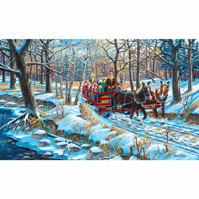 School Field Trip 550 Piece Jigsaw Puzzle