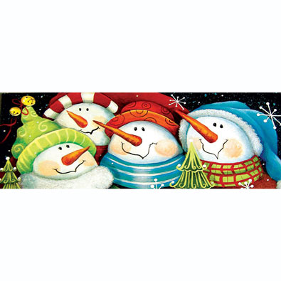 Merry Folks Greeting You 500 Piece Panoramic Jigsaw Puzzle