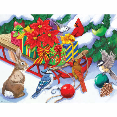 Sled Full of Presents 300 Large Piece Jigsaw Puzzle