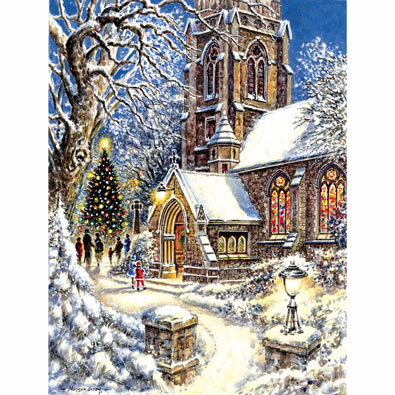 Church in the Snow 300 Large Piece Jigsaw Puzzle