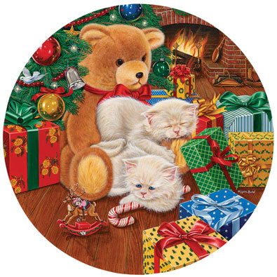 Waiting for Midnight 500 Piece Round Jigsaw Puzzle
