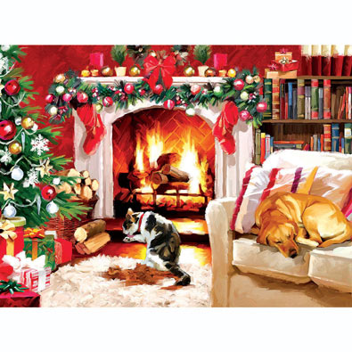 Inside by the Fire 1000 Piece Jigsaw Puzzle