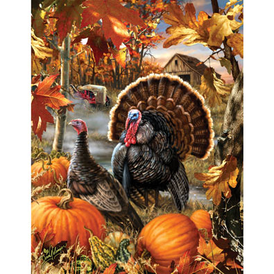 Gobbler Farms 1000 Piece Jigsaw Puzzle