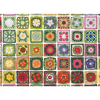 Granny Squares 1000 Piece Jigsaw Puzzle