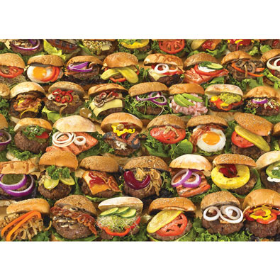 Burgers 1000 Piece Jigsaw Puzzle
