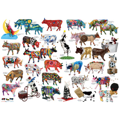 Cow Parade 1000 Piece Jigsaw Puzzle