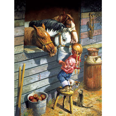 Working Girl 500 Piece Western Jigsaw Puzzle