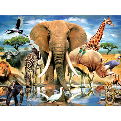 African Oasis 550 Piece Jigsaw Puzzle