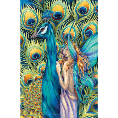 Peacock Fairy 750 Piece Jigsaw Puzzle