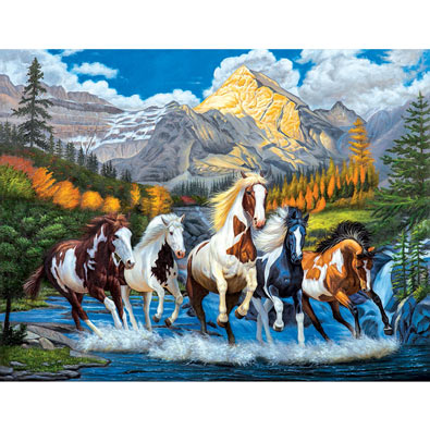 Wild Run 1000 Piece Jigsaw Puzzle