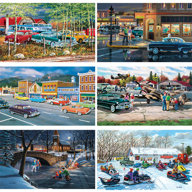 Set of 6: Ken Zylla 550 Piece Jigsaw Puzzles
