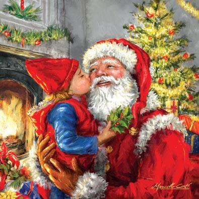 Kissing Santa 500 Piece Jigsaw Puzzle