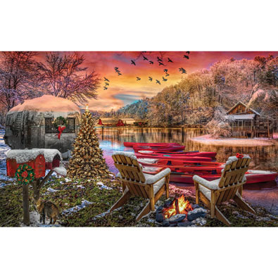 Christmas Eve Camping 1000 Piece Jigsaw Puzzle