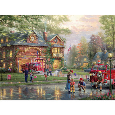 Hometown Firehouse 1000 Piece Jigsaw Puzzle