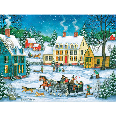 Dashing Through the Snow 300 Large Piece Jigsaw Puzzle