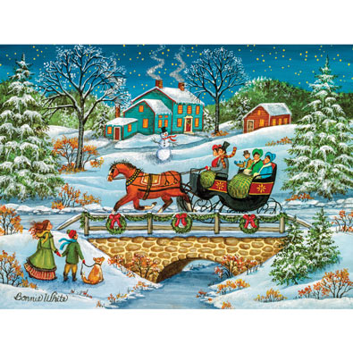 Over The River 300 Large Piece Jigsaw Puzzle