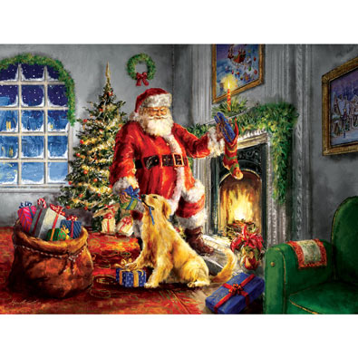 Helping Santa 300 Large Piece Jigsaw Puzzle