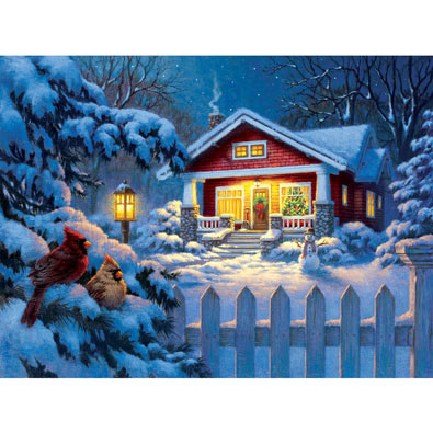Christmas Bungalow 1000 Piece Jigsaw Puzzle