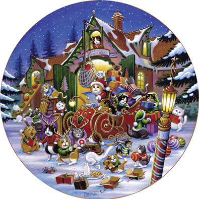 Here Comes Santa Paws 500 Piece Jigsaw Puzzle