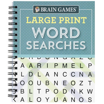 Large Print Puzzle Book: Word Searches