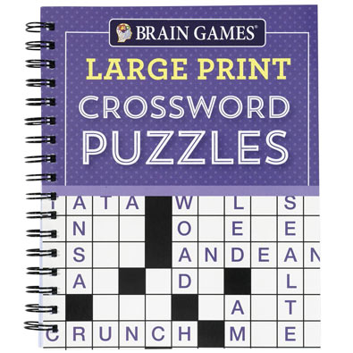 Large Print Puzzle Book: Crossword