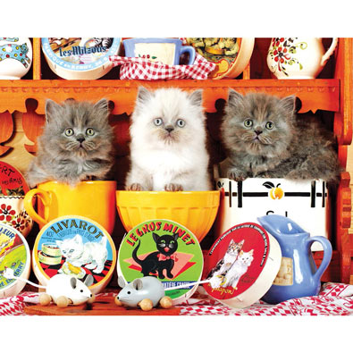 Three Little Kittens 300 Large Piece Jigsaw Puzzle
