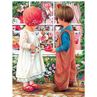 Valentine Treasure 300 Large Piece Jigsaw Puzzle