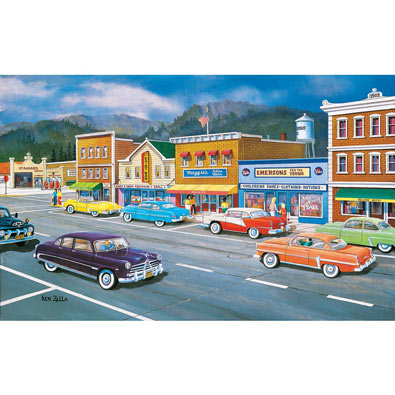 Main Street Memories 300 Large Piece Jigsaw Puzzle