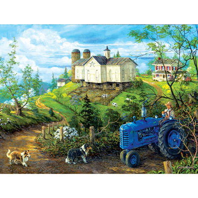 Green Pasture 300 Large Piece Jigsaw Puzzle