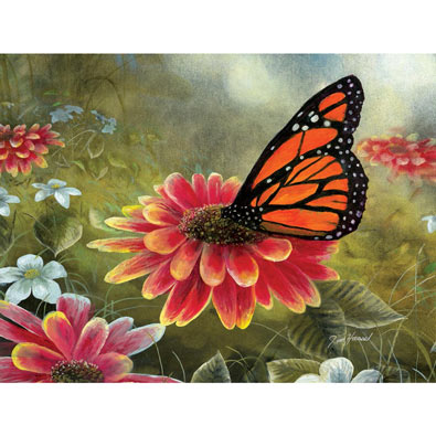Monarch Butterfly 500 Piece Jigsaw Puzzle