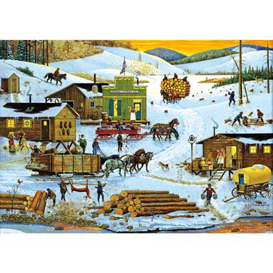 Logging Camp 500 Piece Jigsaw Puzzle