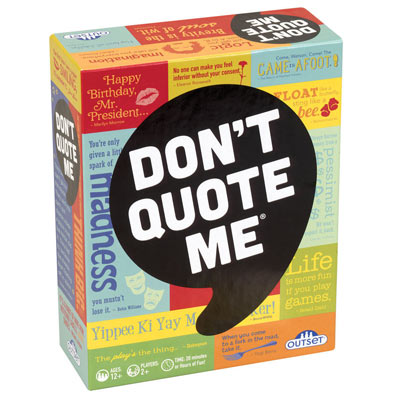 Don't Quote Me Game