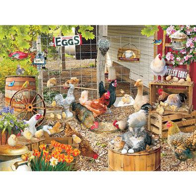 Barnyard Families 1000 Piece Jigsaw Puzzle Spilsbury