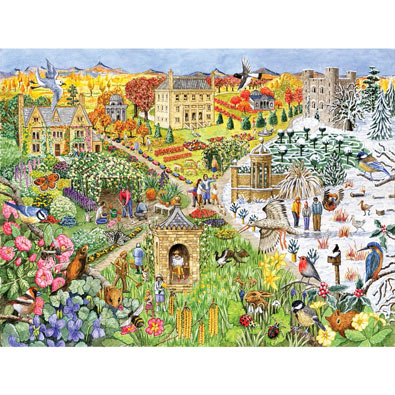 English Country Life Through the Seasons 500 Piece Jigsaw Puzzle