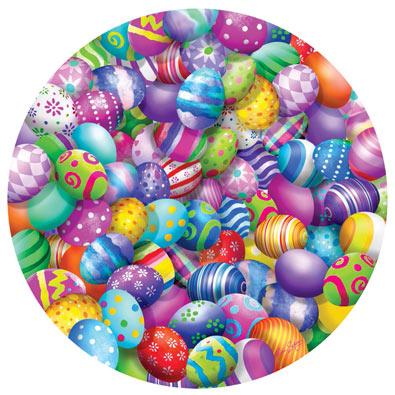 Easter Eggs 500 Piece Round Jigsaw Puzzle