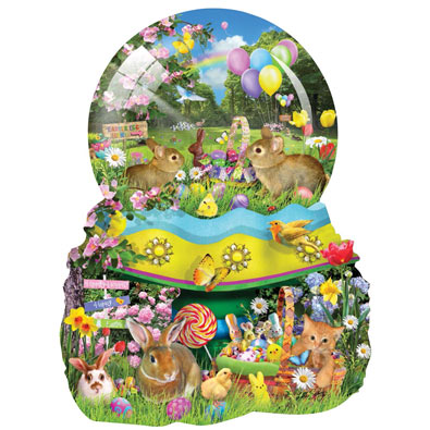 Easter Egg-stravaganza Shaped 1000 Piece Jigsaw Puzzle