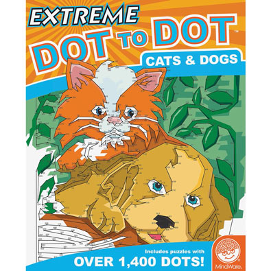 Cats & Dogs- Extreme Dot to Dots Book