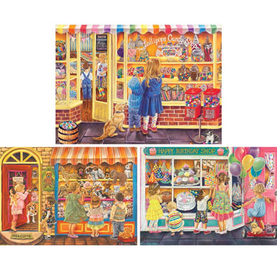 Set of 3: Tricia Reilly-Matthews 1000 Piece Jigsaw Puzzles