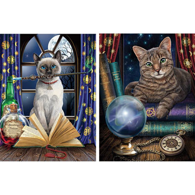 Set of 2: Magical Cat 550 Piece Jigsaw Puzzles