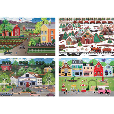 Set of 4: Julie Pace Hoff 500 Piece Jigsaw Puzzles