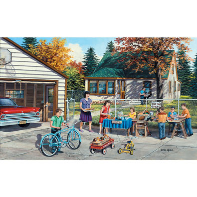 Backyard Sale 550 Piece Jigsaw Puzzle
