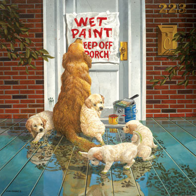 Wet Paint 500 Piece Jigsaw Puzzle