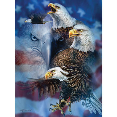 Patriotic Eagles 1000 Piece Jigsaw Puzzle