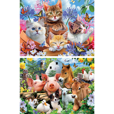 Set of 2: Howard Robinson 550 Piece Jigsaw Puzzles