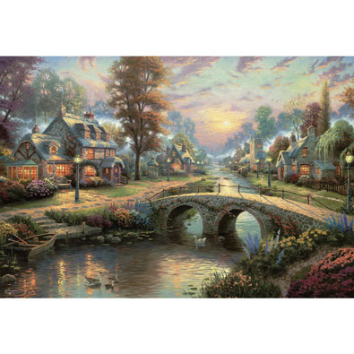 Sunset on Lamplight Lane 2000 Piece Jigsaw Puzzle